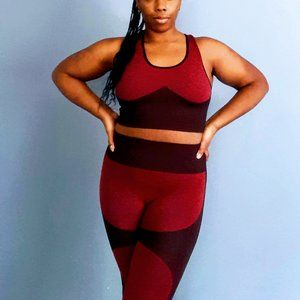 High Rise Leggings And Cropped Tank Set